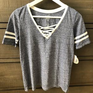 Juniors Blue Tee NWT